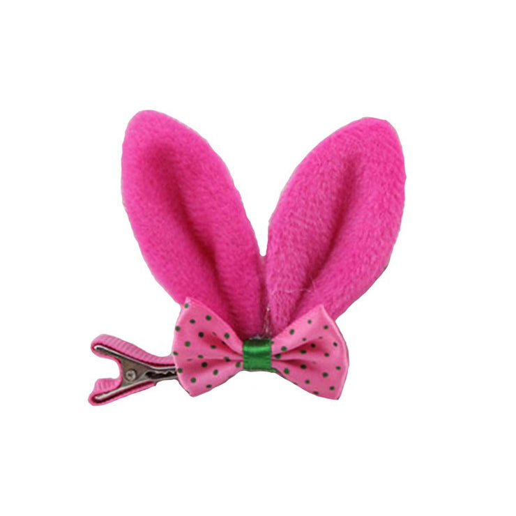 Bunny Ear Clip-On in Bright Pink | Pawlicious & Company