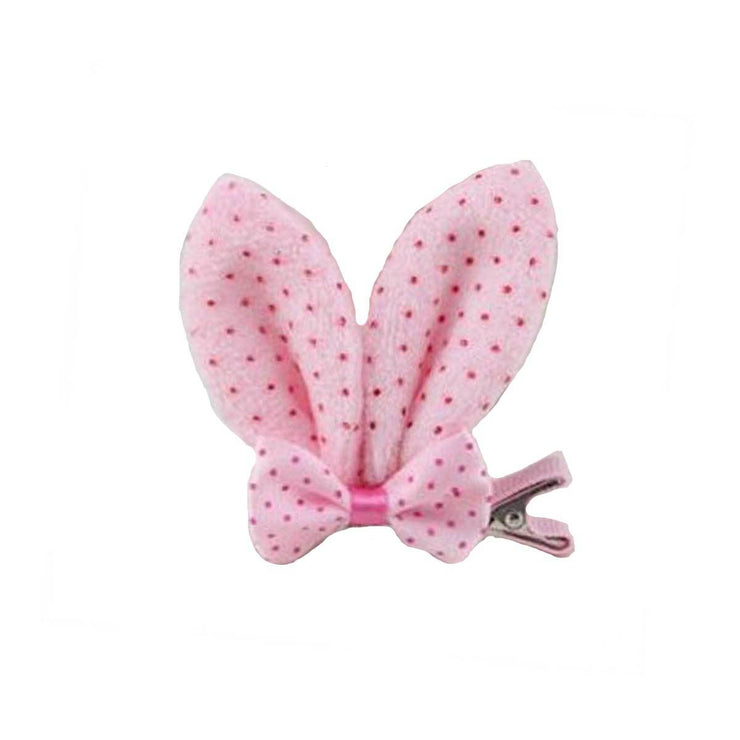 Bunny Ear Clip-On in Pink Dots | Pawlicious & Company