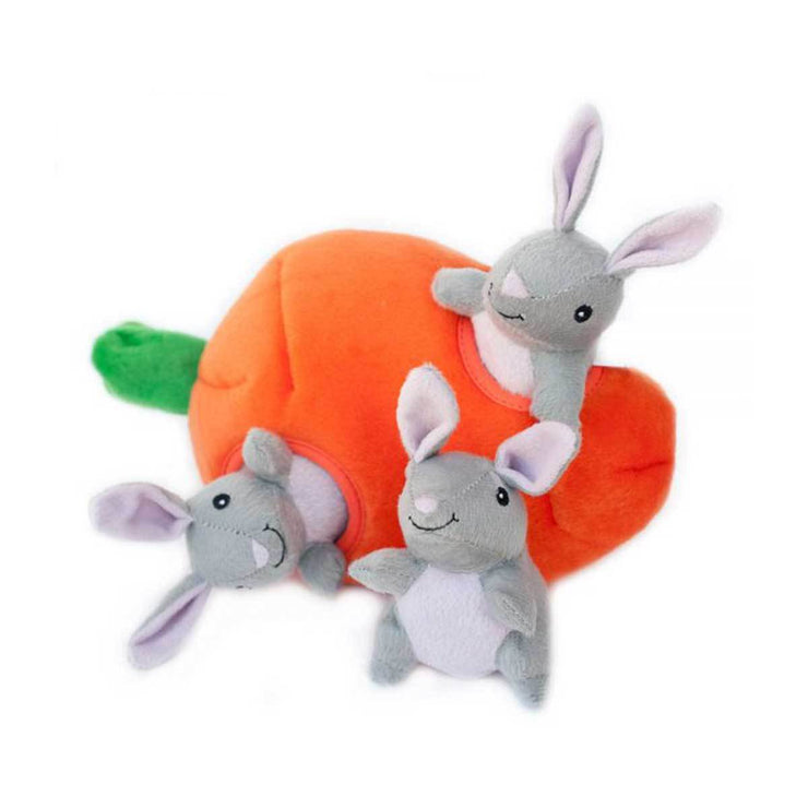 Bunny 'n Carrot Burrow Puzzle Dog Toy | Pawlicious & Company