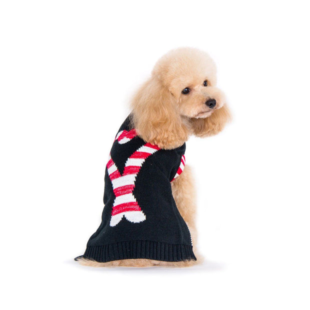 Candy Cane Dog Sweater | Pawlicious & Company
