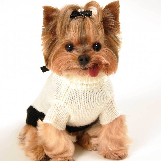 Classic CoCo Mohair Dog Sweater in Cream | Pawlicious & Company