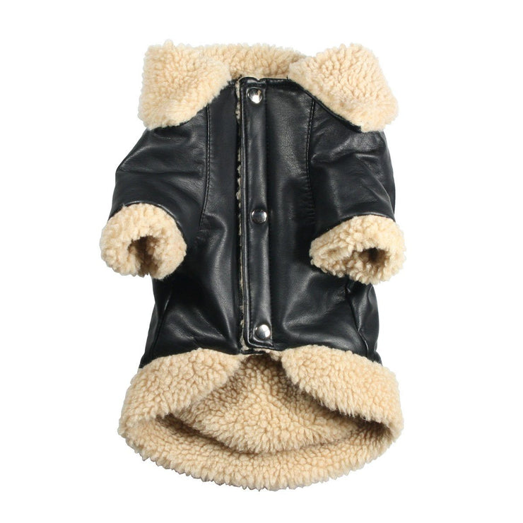 Classic Sherling Leatherette Dog Coat | Pawlicious & Company