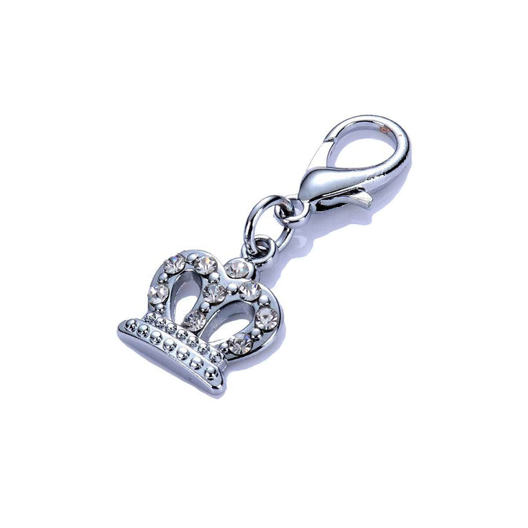 Crystal Crown Dog Collar Charm in Clear | Pawlicious & Company