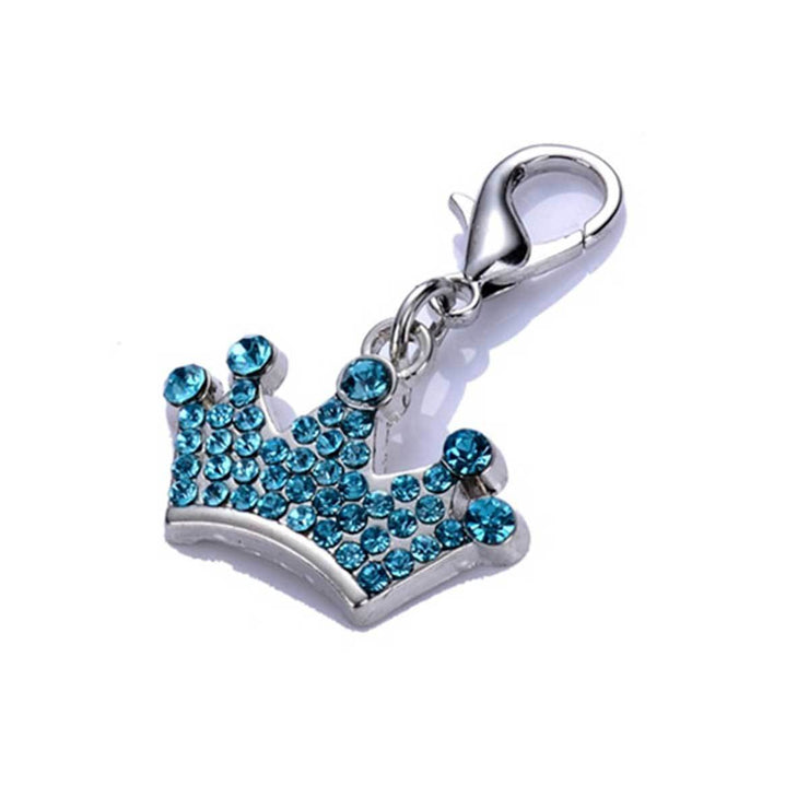Crystal Ctrown Charm in Blue | Pawlicious & Company