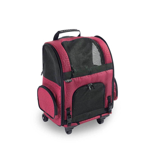 Dog Carrier Roller-Red Geometric  up to 10 lbs | Pawlicious & Company