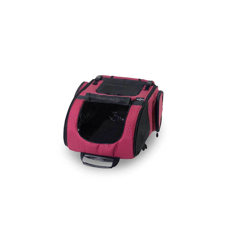 Dog Carrier Roller-Red Geometric up to 20 lbs | Pawlicious & Company