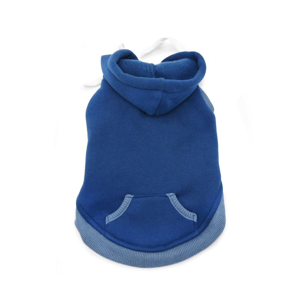 Drawstring Hoodie in Blue | Pawlicious & Company