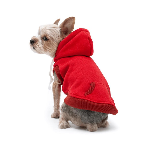 Drawstring Hoodie in Red | Pawlicious & Company