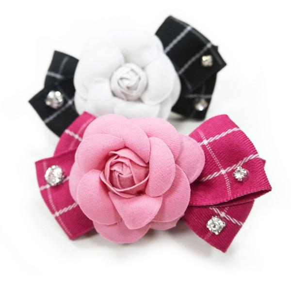 Flower Dog Collar Bow with Rhinestones | Pawlicious & Company