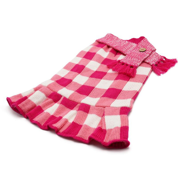 Gingham Sweater Dog Dress | Pawlicious & Company