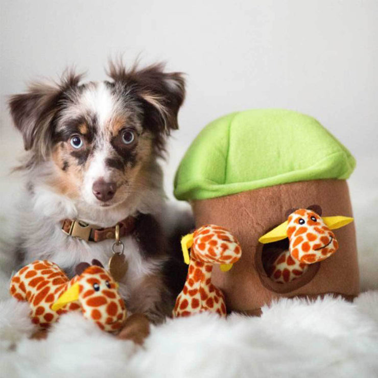 Giraffe Lodge Burrow Puzzle Dog Toy | Pawlicious & Company