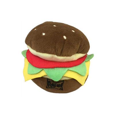 Hamburger Plush Dog Toy | Pawlicious & Company