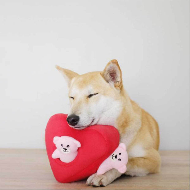 Hearts and Bears Burrow Puzzle Dog Toy | Pawlicious & Company