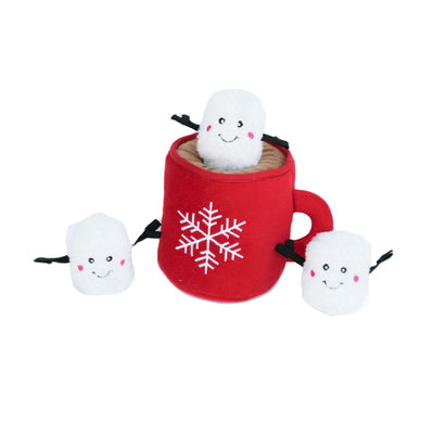 Hot Cocoa Holiday Burrow Dog Toy