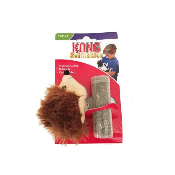 Kong Refillable Catnip Toy - Hedgehog | Pawlicious & Company
