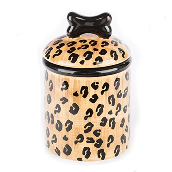 Leopard Ceramic Dog Treat Jars | Pawlicious & Company