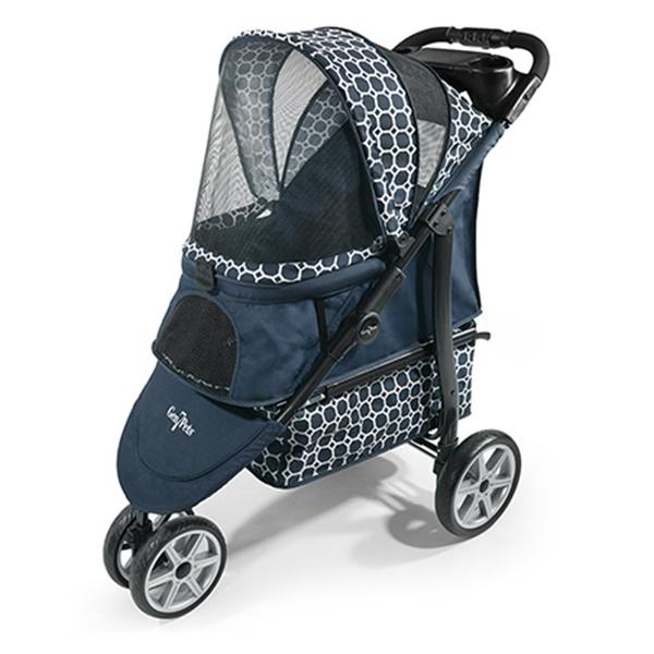 Monaco Platinum Dog Stroller - Dress Blues