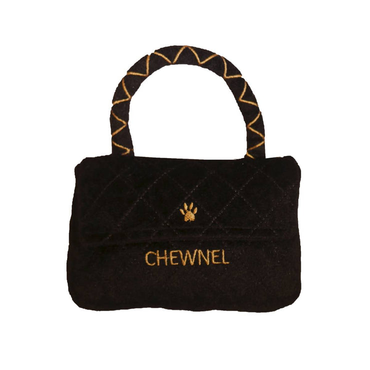 Chewnel Classique Black Purse Dog Toy | Pawlicious & Company