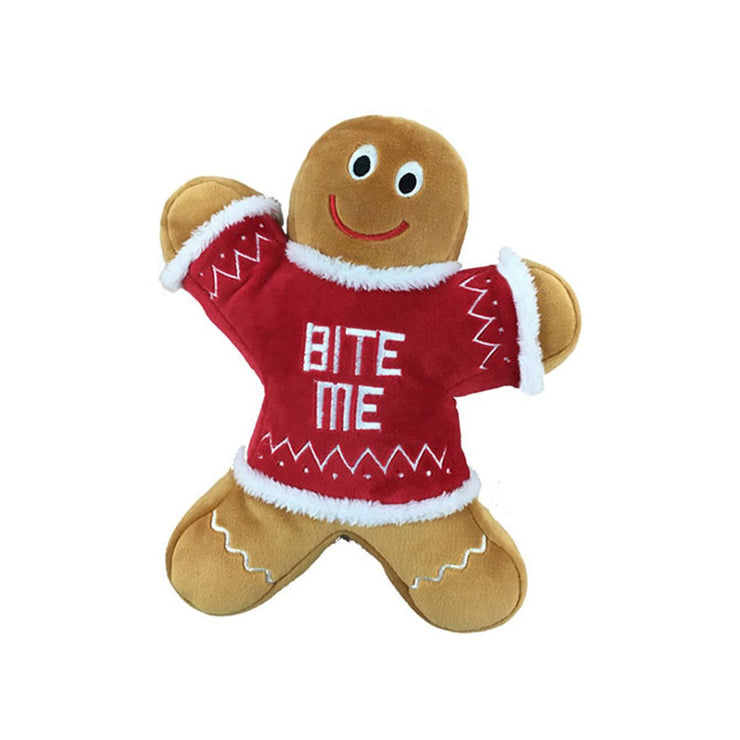 Gingerbread Man Eddie Says Bite Me