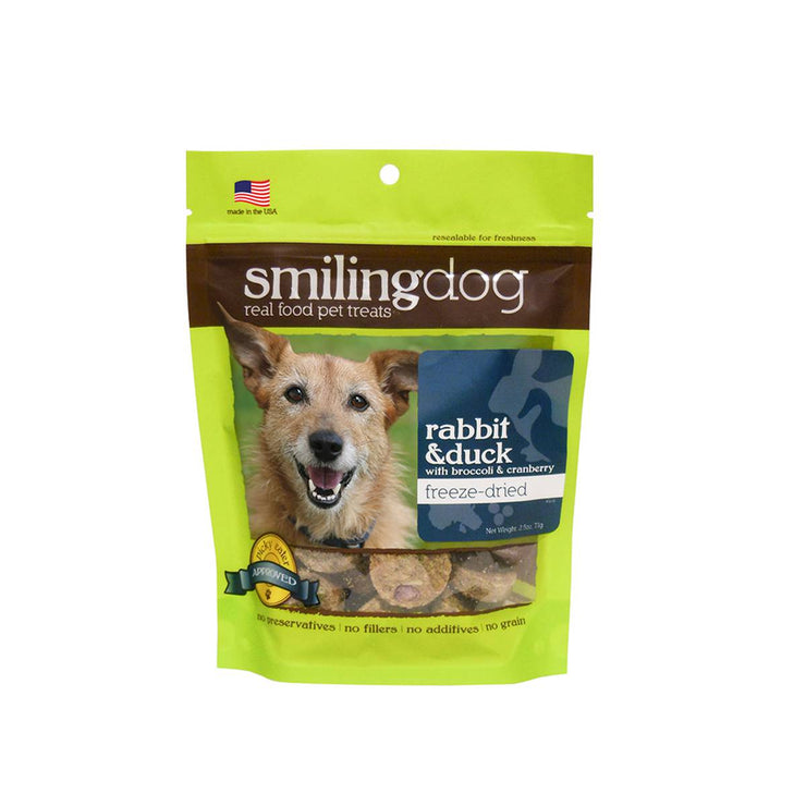 Herbsmith Smiling Dog Freeze Dried Treats - Rabbit & Duck | Pawlicious & Company