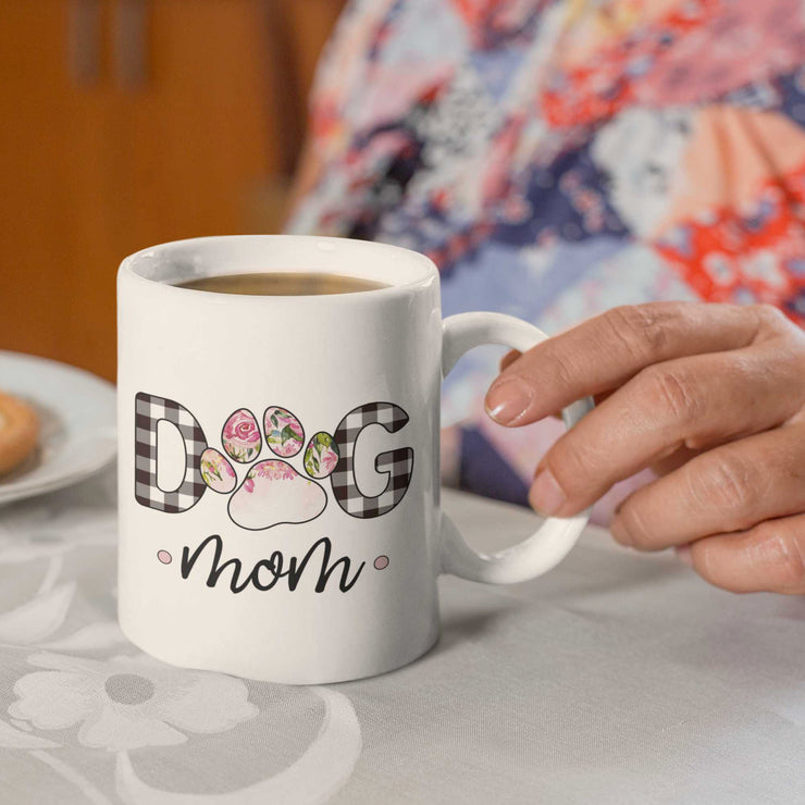 Dog Mom Mug in Floral Ombre Pattern | Pawlicious & Company