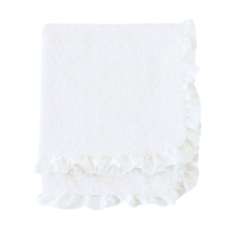 Baby Ruffle Dog Blanket in Cream | Pawlicious & Company