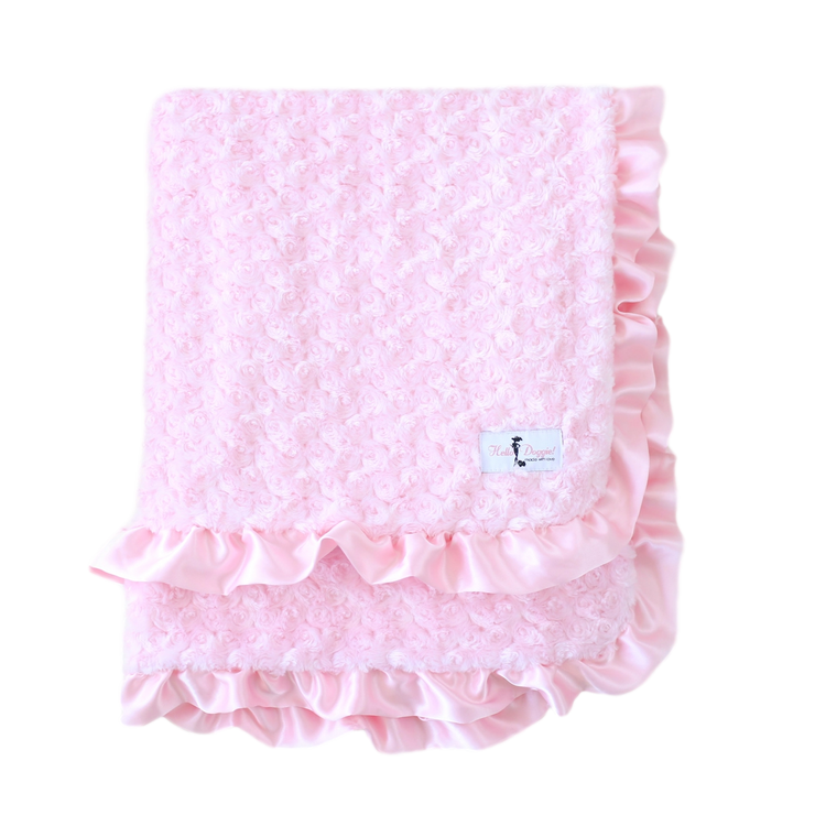 Baby Ruffle Dog Blanket in Pink | Pawlicious & Company