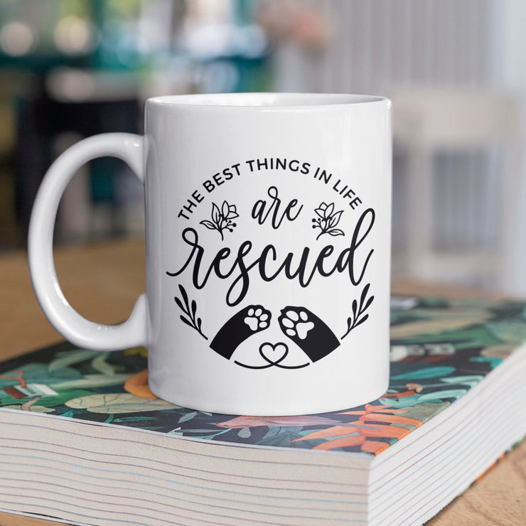 The Best Things are Rescued Dog Mug | Pawlicious & Company