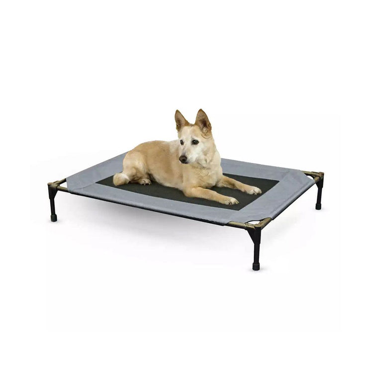 Gray Blue Dog Cot in Large