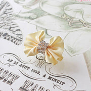 The Muse Dog Hair Clip with Rhinestones in Yellow | Pawlicious & Company