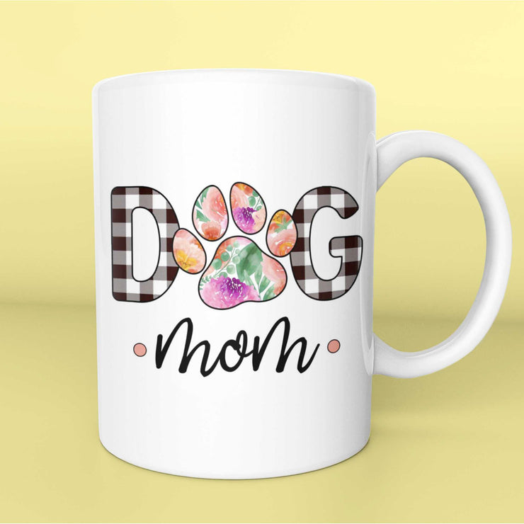 Dog Mom Mug in Spring Flowers Pattern | Pawlicious & Company