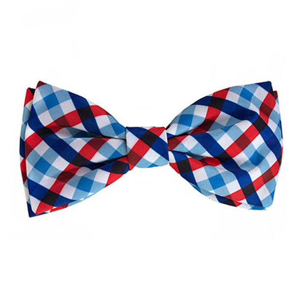 Picnic Check Dog Collar Bow Tie