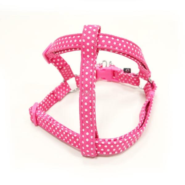 Pink Polka Dot Dog Harness | Pawlicious & Company