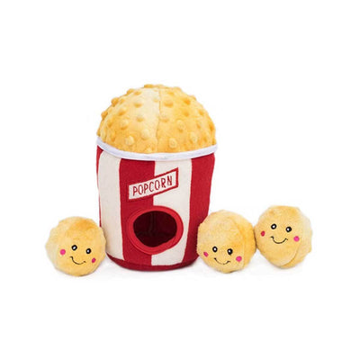 Popcorn Bucket Burrow Dog Toy
