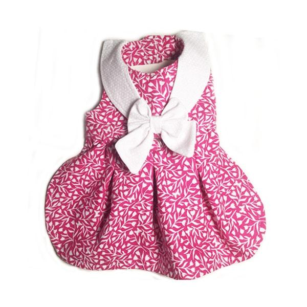 Pretty Pink Tulip Print Dog Dress | Pawlicious & Company