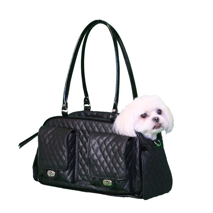 Quilted Marlee Dog Carrier - Black | Pawlicious & Company