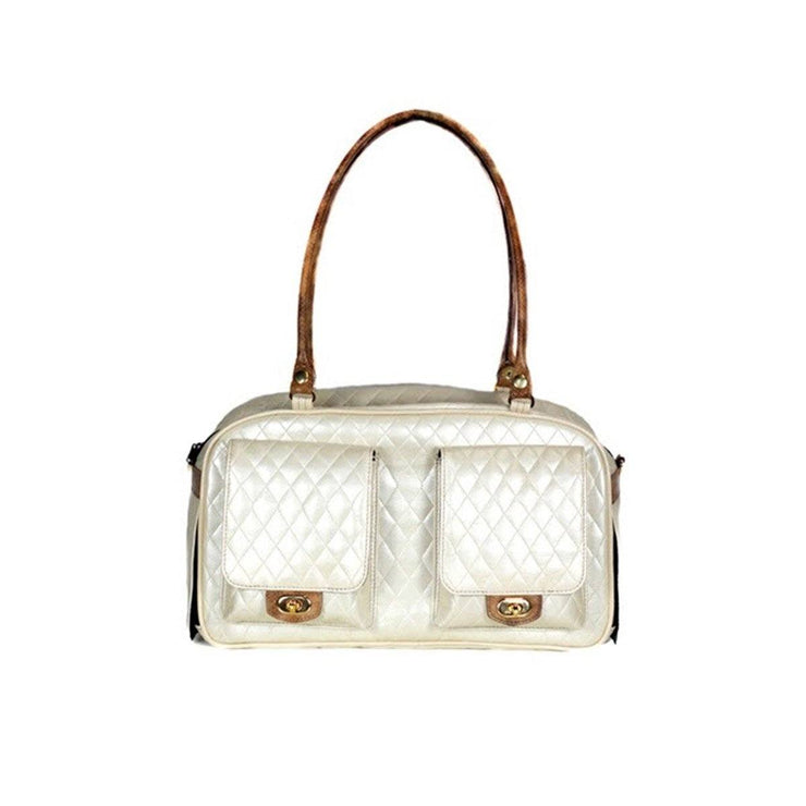 Quilted Marlee Dog Carrier - Ivory | Pawlicious & Company