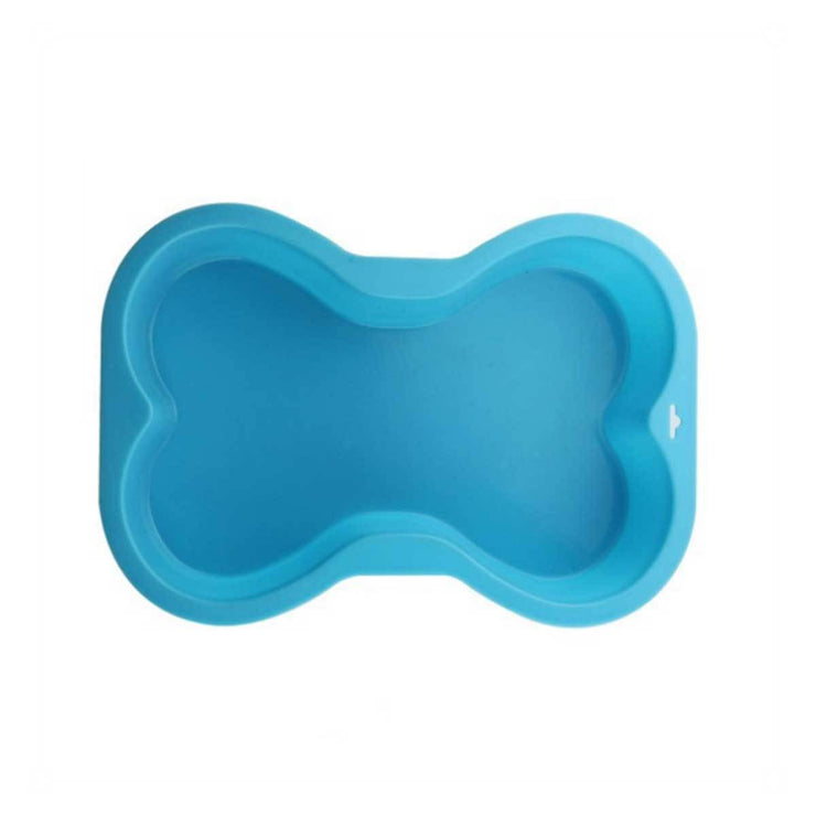 Silicone Dog Bone Cake Pan in Blue | Pawlicious & Company