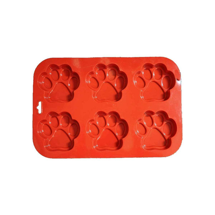 Silicone Dog Paw Treat Pan 6 Molds | Pawlicious & Company