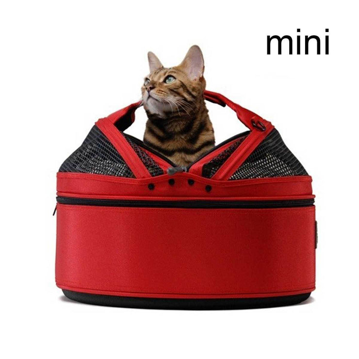 Sleepypod Mini Dog Carrier in Strawberry Red | Pawlicious & Company