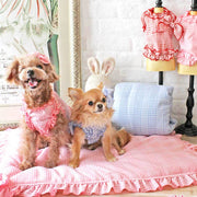 Stripe Dolly Dog Hair Bow in Pink | Pawlicious & Company