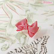 Stripe Dolly Dog Hair Bow in Red | Pawlicious & Company