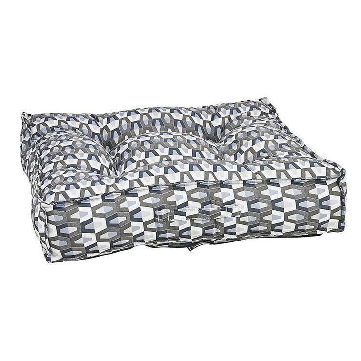 Piazza Square Dog Bed in Titan | Pawlicious & Company