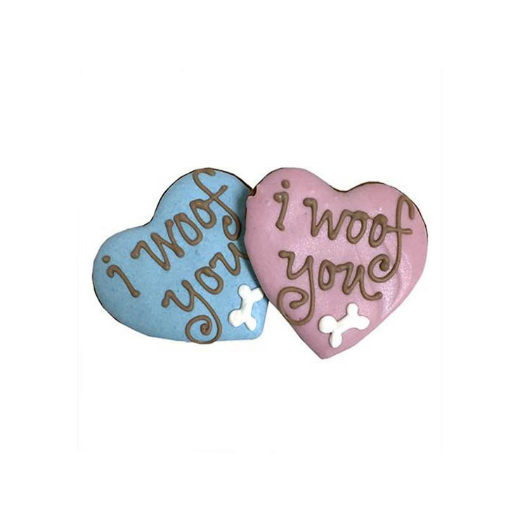 Woof You Heart Dog Cookies | Pawlicious & Company