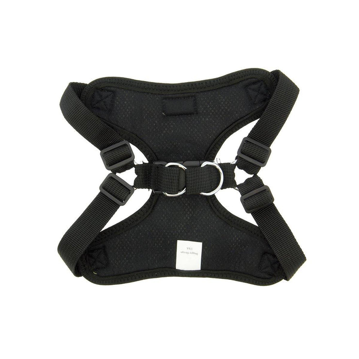 Wrap & Snap Choke Free Dog Harness in Black | Pawlicious & Company