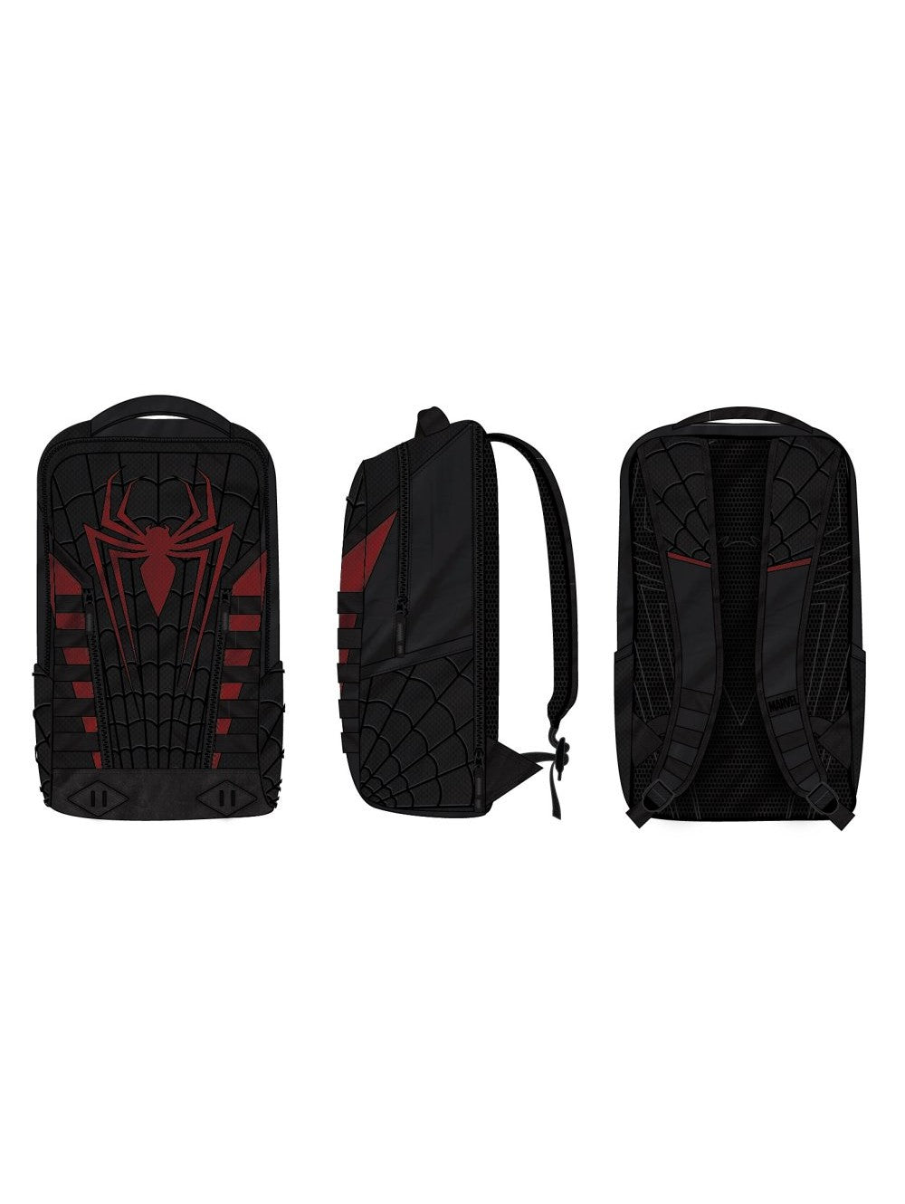 Spider-Man Built Up Black and Red Backpack