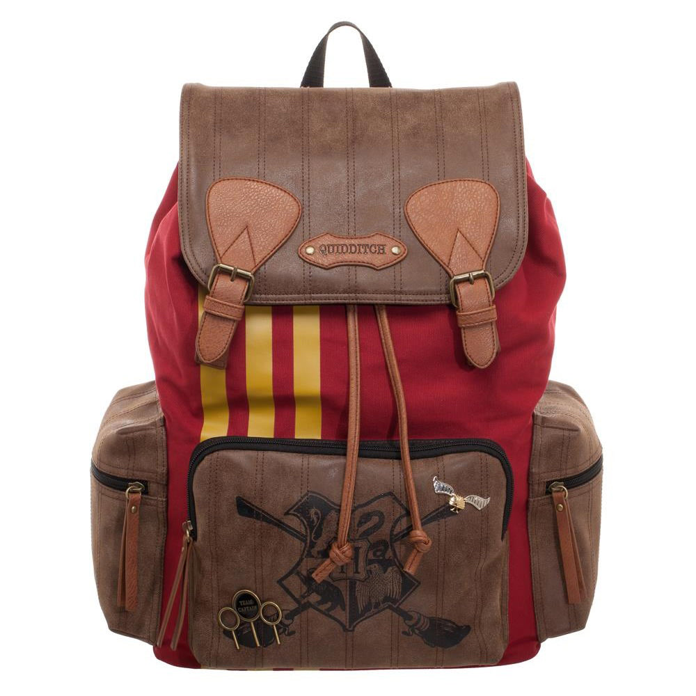Harry Potter Quidditch Rucksack Backpack Laptop Case Bag Faux Leather