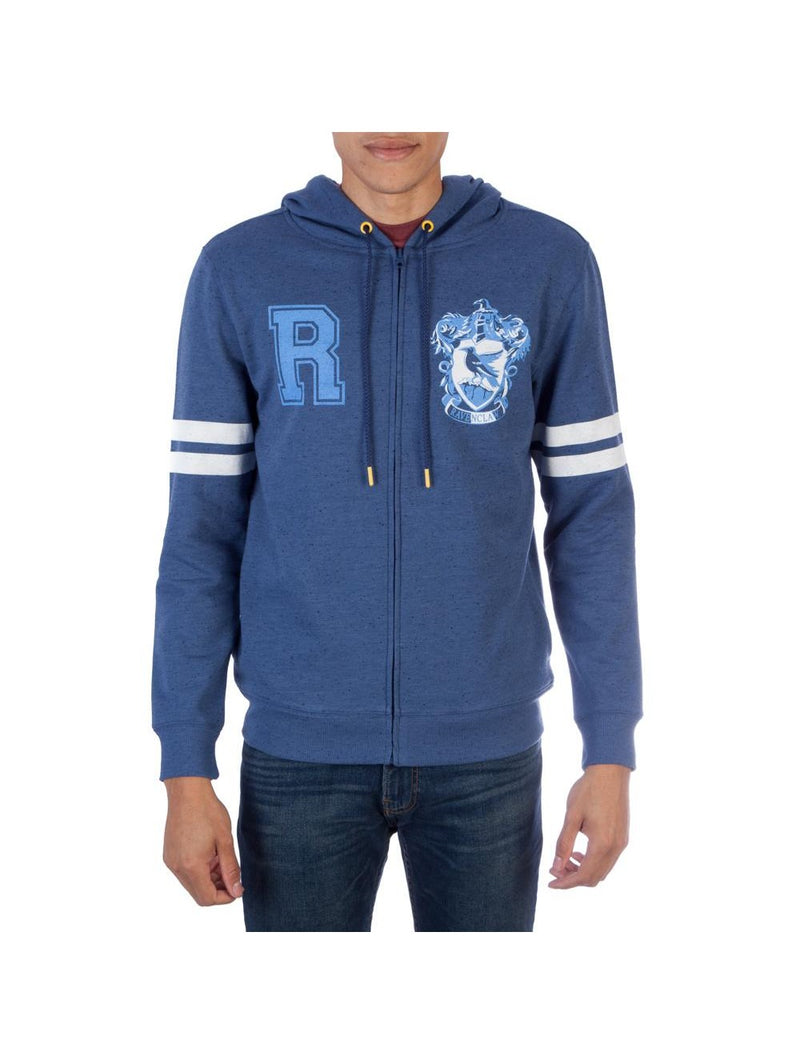 Harry Potter Ravenclaw Men's Fleece Zip Up Hoodie