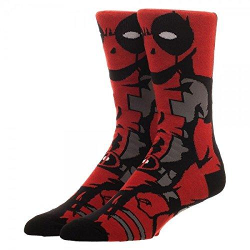 Marvel Comics Deadpool 360 Character Crew Socks