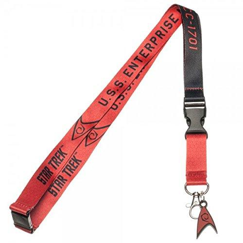 Star Trek Red Command Member Charm Lanyard
